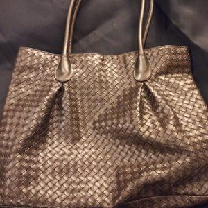 BRONZE LEATH HANDBAG/PURSE by BLOOMINGDALES  NWOTS